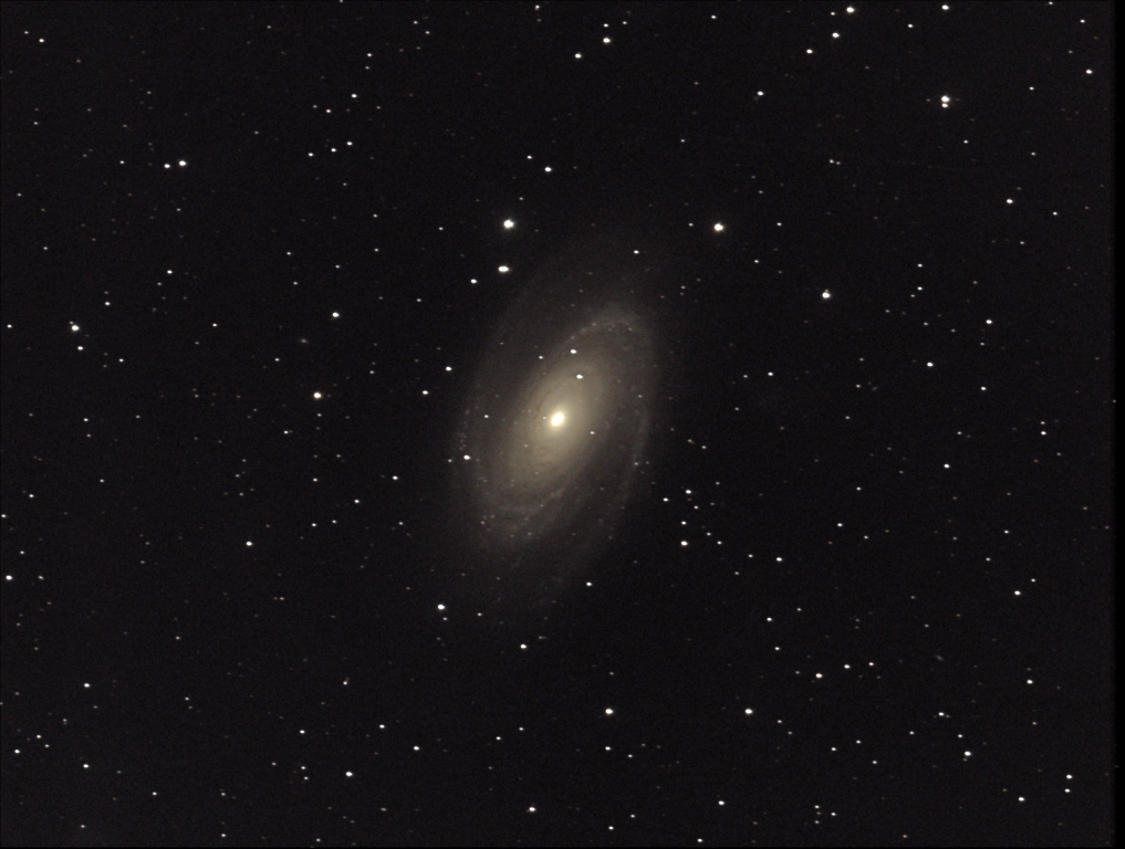 M81, known as Bode's Galaxy, is a spiral galaxy in the constellation Ursa Major.  Taken 2014-01-05 with T3, a Takahashi TOA-150 with SBIG ST-8300C One Shot Color CCD.  This telescope is located at the New Mexico Skies Observatories in Mayhill, New Mexico.
