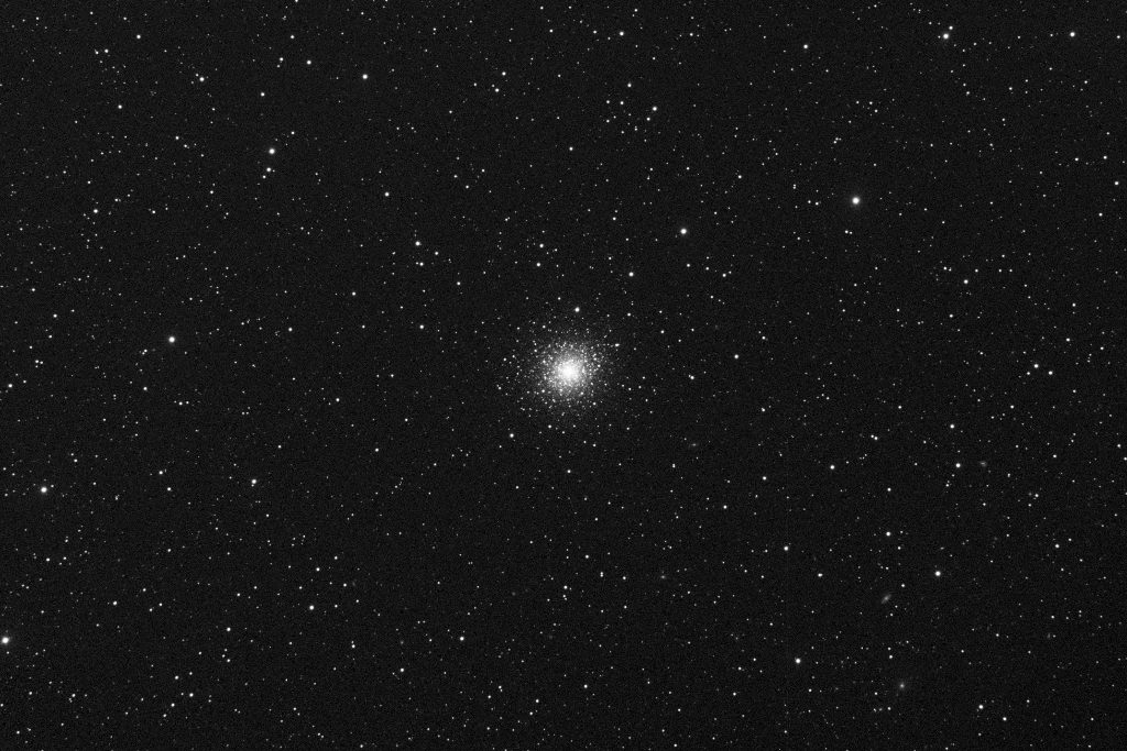 A globular cluster of stars in the northern constellation of Hercules.   Taken 2014-02-19 with T16, a Takahashi TOA-150, a wide - medium deep field telescope. This hybrid science/imaging platform located at AstroCamp Observatory in Nerpio, Spain