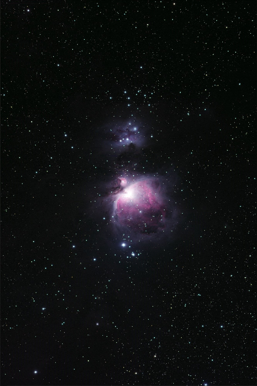 The Orion Nebula is a diffuse nebula situated south of Orion's Belt in the constellation of Orion. Pictured above is NGC 1973, 1975 & 1977, known as the Running Man Nebula.   Taken 2014-02-18 with T20, a Takahashi FSQ-ED located at the New Mexico Skies Observatories in Mayhill, New Mexico.